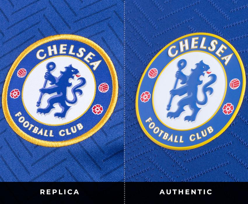 Chelsea Crest Differences between Replica and Authentic