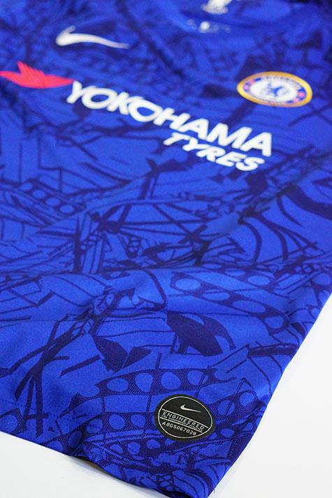 authenticity badge on a chelsea jersey
