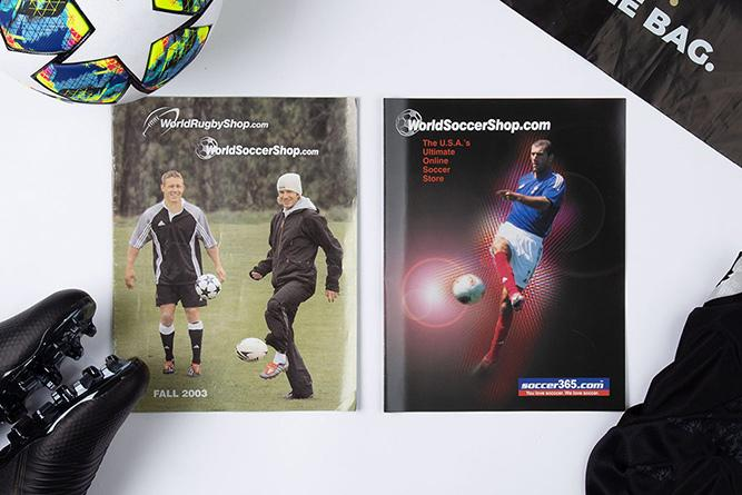 Some of the earliest WorldSoccerShop Catalogs