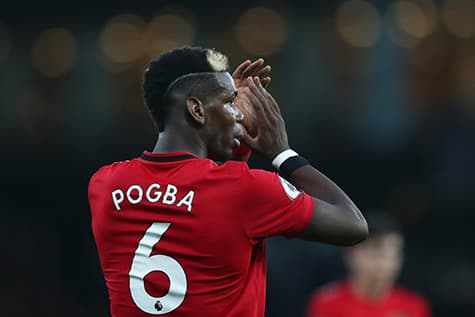Paul pogba wear number 6 on his jersey for manchester united