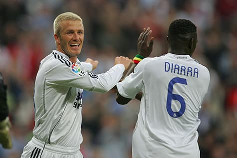 Diarra played for Madrid in a number 6 jersey
