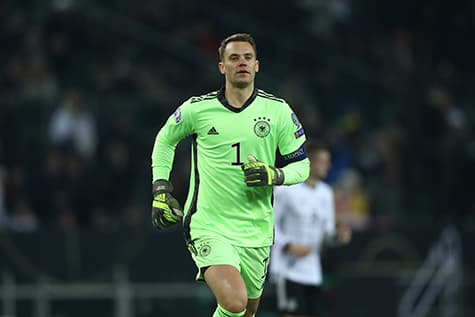 manuel neur wears a traditional goallkeepers number for the german national team - 1