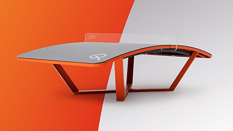teqball one table angle