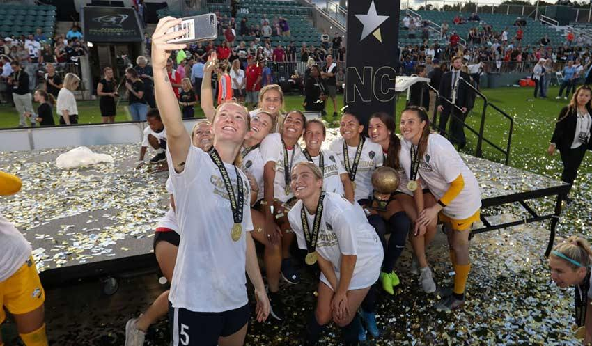 North Carolina Courage Selfie