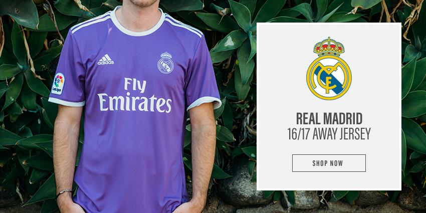 Shop the Real Madrid 16/17 Away Jersey